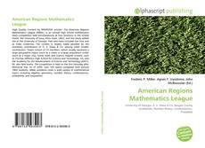 Bookcover of American Regions Mathematics League