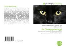 Bookcover of Psi (Parapsychology)