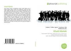 Portada del libro de Khalil Maleki