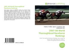 Bookcover of 2007–08 World Thoroughbred Racehorse Rankings