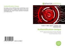 Bookcover of Authentification Unique