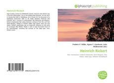 Bookcover of Heinrich Rickert