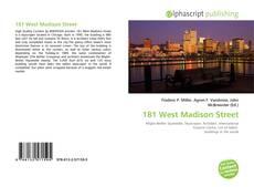 181 West Madison Street kitap kapağı