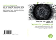 Bookcover of Algorithmic game theory