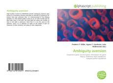 Обложка Ambiguity aversion