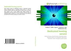 Bookcover of Dedicated hosting service