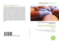 Bookcover of Misuse of Drugs Act 1971