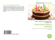 Bookcover of Grand Duke's Official Birthday