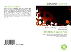Bookcover of 1986 Italian Grand Prix
