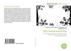 Bookcover of 1991 Italian Grand Prix