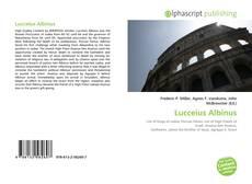 Обложка Lucceius Albinus