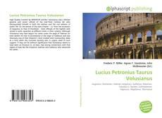 Bookcover of Lucius Petronius Taurus Volusianus