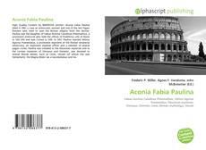 Aconia Fabia Paulina的封面