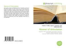 Bookcover of Manner of Articulation