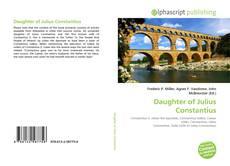 Capa do livro de Daughter of Julius Constantius