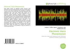 Bookcover of Electronic Voice Phenomenon