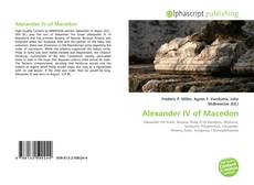 Bookcover of Alexander IV of Macedon