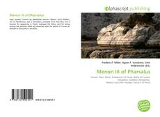 Bookcover of Menon III of Pharsalus