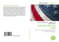 Capa do livro de Bush–Blair 2003 Iraq memo