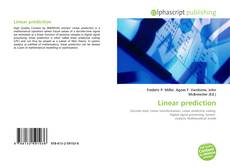 Bookcover of Linear prediction