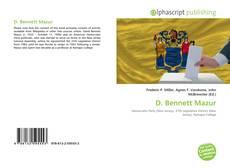 Bookcover of D. Bennett Mazur