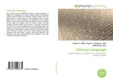 Borítókép a  Literary Language - hoz
