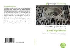 Buchcover von Fonts Baptismaux