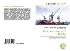 Bookcover of Maritime Academy of Nigeria