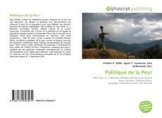 Capa do livro de Politique de la Peur