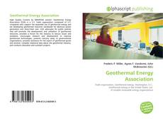 Bookcover of Geothermal Energy Association