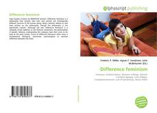 Bookcover of Difference feminism