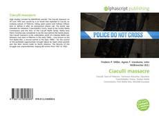Bookcover of Ciaculli massacre