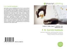 Capa do livro de F. R. Carrick Institute