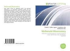 Couverture de McDonald Observatory