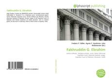 Bookcover of Fakhruddin G. Ebrahim