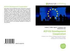 Bookcover of ACP-EU Development Cooperation