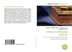Copertina di Heresy in Orthodox Judaism