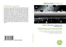 Bookcover of 2006 Monaco Grand Prix