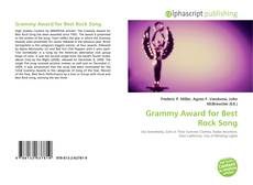 Bookcover of Grammy Award for Best Rock Song