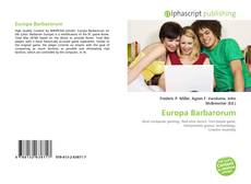 Bookcover of Europa Barbarorum