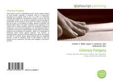 Borítókép a  Literary Forgery - hoz