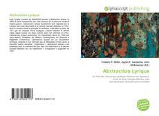 Couverture de Abstraction Lyrique