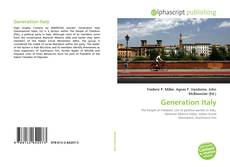 Bookcover of Generation Italy