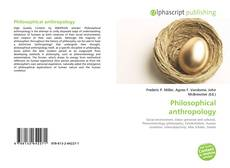 Bookcover of Philosophical anthropology