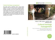 Bookcover of Cultural heritage management