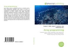 Borítókép a  Array programming - hoz