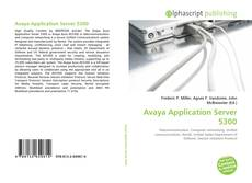 Bookcover of Avaya Application Server 5300