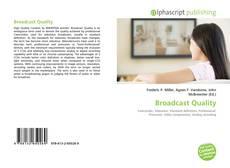 Borítókép a  Broadcast Quality - hoz