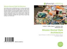 Bookcover of Mission Revival Style Architecture