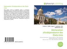 Обложка Déclaration d'Indépendance des États-Unis
